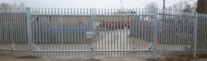 Steel Pallisade Commercial Fencing