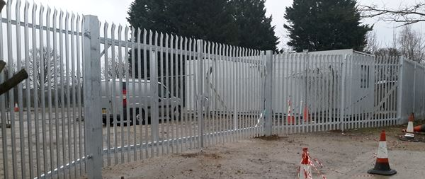 Steel Palisade Fencing Commericial Installers
