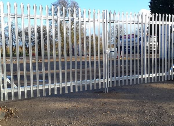 Steel Palisade Security Fencing Galvanised Finish