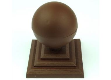 75mm Fence Post Ball Finials Brown And Black Plastic Free