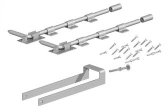 Double Field Gate Fastener Set with 2 Garage Door Bolts