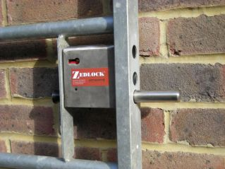 Zedlock S25S5 5 Lever Gate Lock for Metal Gates with 25 - 30 mm Frames