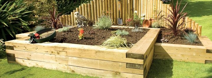 Landscape Timber - Railway Sleepers New and Reclaimed make an ideal choice.