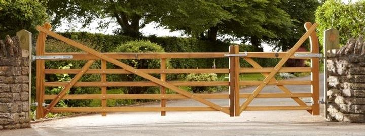 Stunning Iroko Hardwood Gates from Fencing Essentials